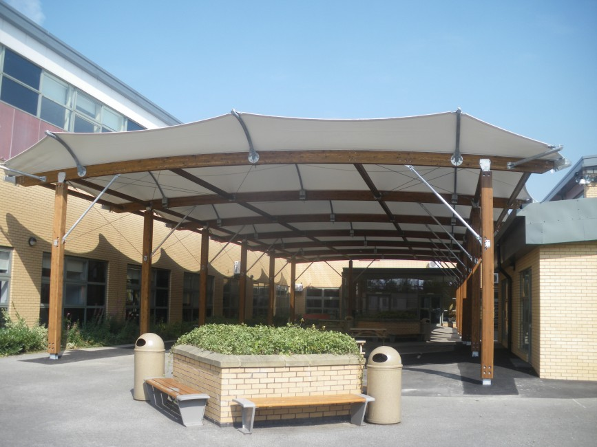 Tensile Membrane School playground canopy
