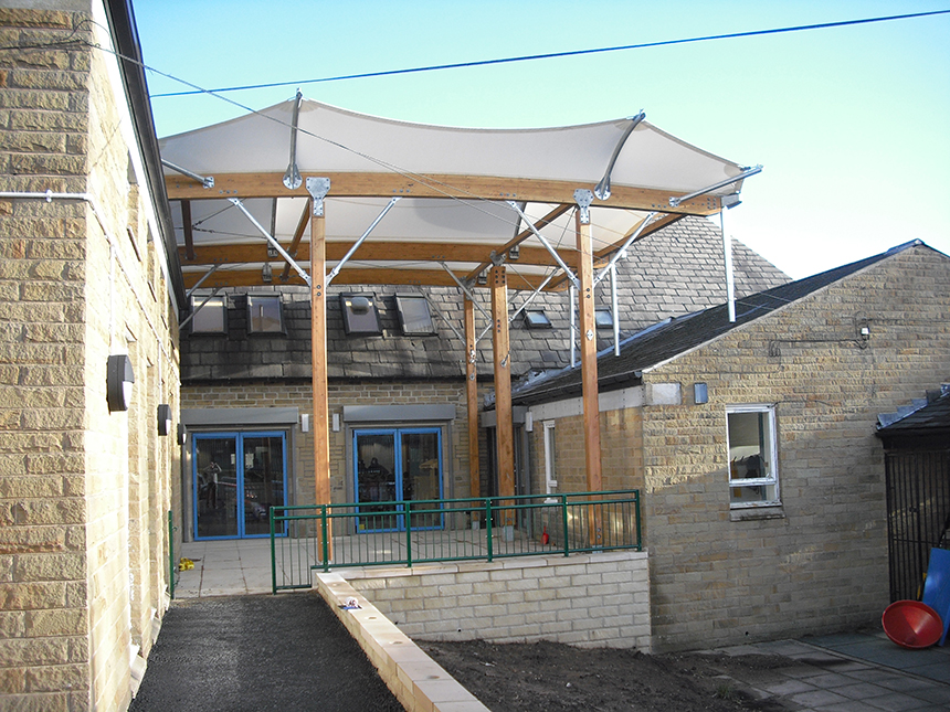 Covered school playgrounds construction