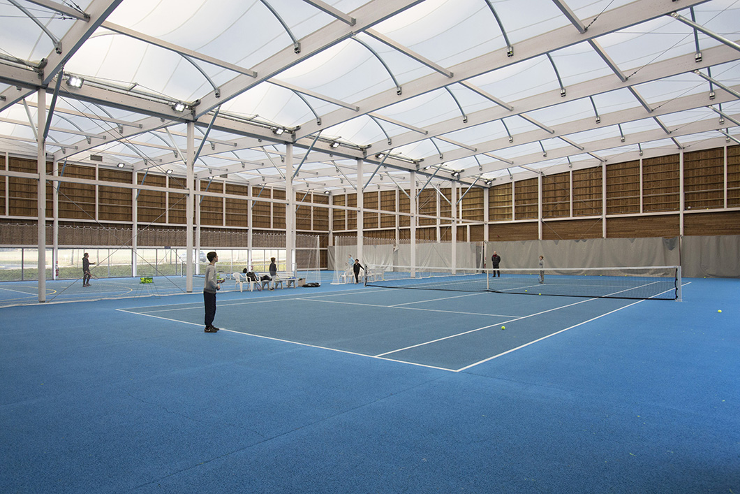 TENNIS CONSTRUCTION BOIS ARCHITECTURE TEXTILE
