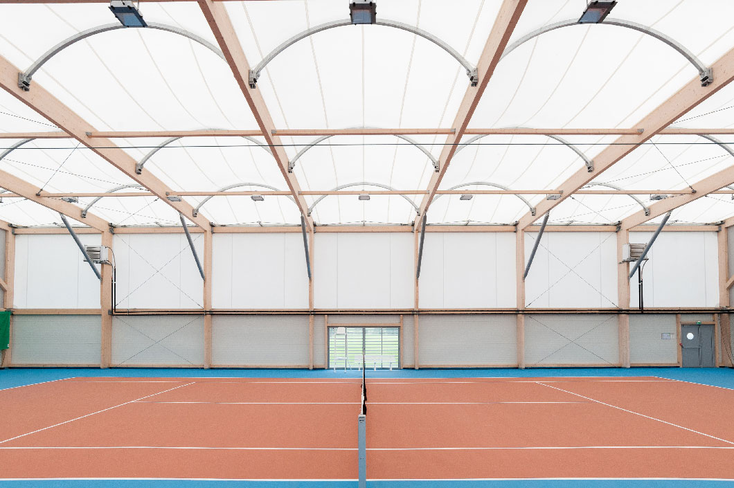 CONSTRUCTION TENNIS ARCHITECTURE TEXTILE