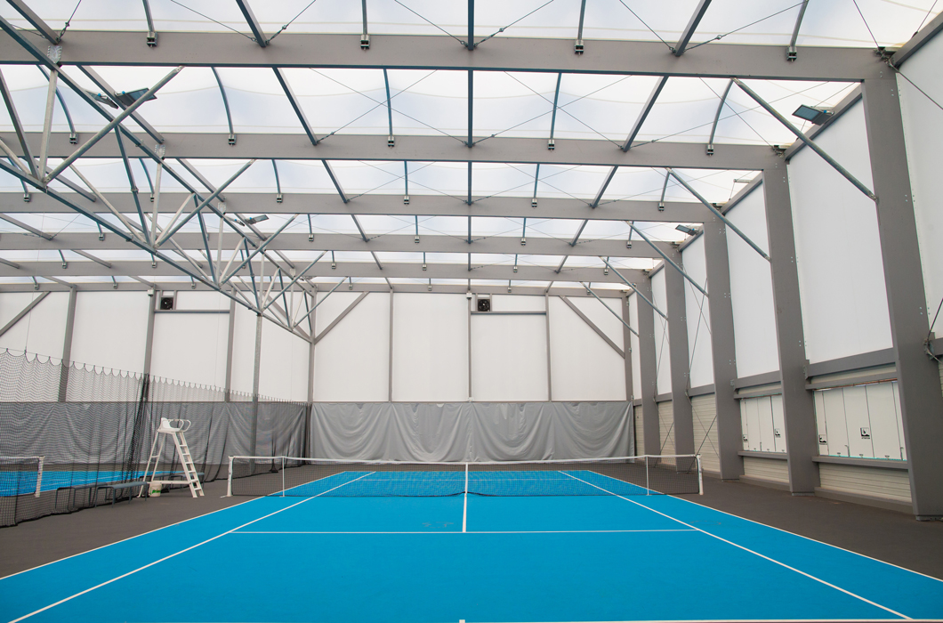 WOODEN CONSTRUCTION TENNIS ARCHITECTURE TEXTILE TENSILE FABRIC STRUCTURE