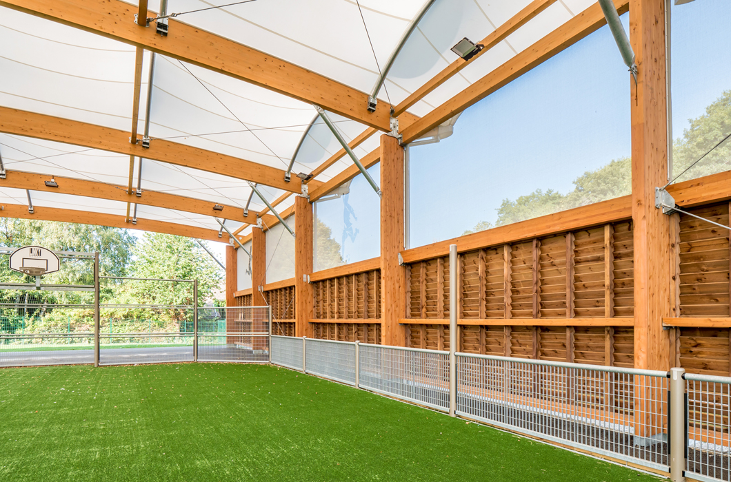 WOODEN CONSTRUCTION ARCHITECTURE TEXTILE TENSILE FABRIC STRUCTURE